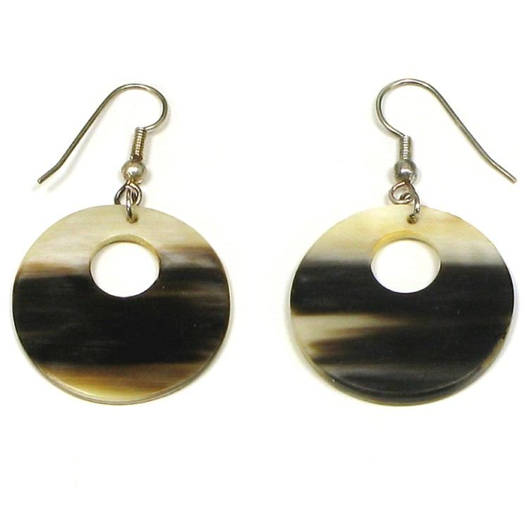 Round Horn Earrings with Hole
