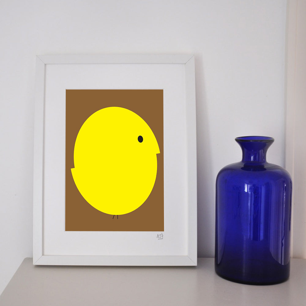 'Chicken and egg' framed print.