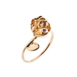 Rose ring in gold