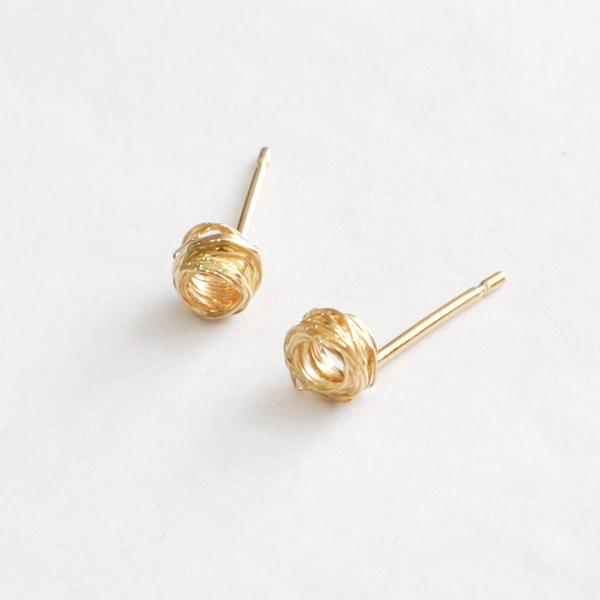 Gold Plated Wrap Studs, Small