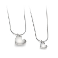 Silver Heart Necklace, Large