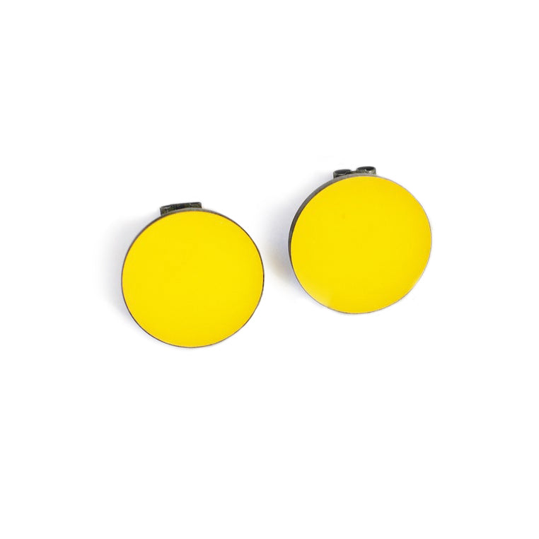 Medium Round Yellow Resin Studs