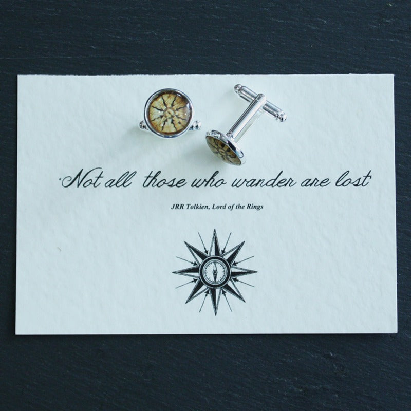 Lord Of The Rings Compass Cufflinks