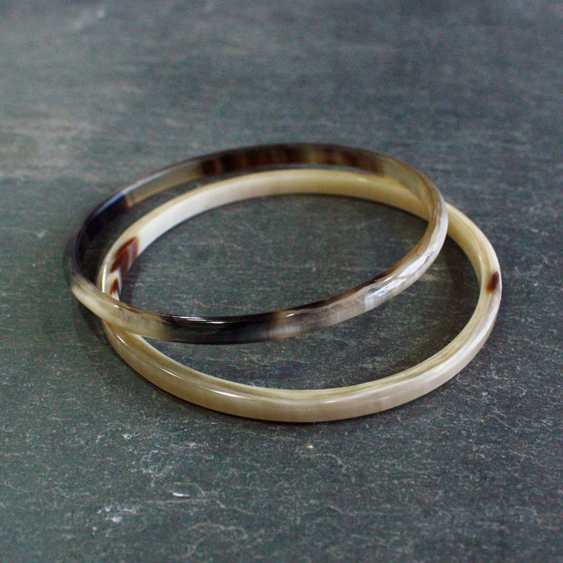Narrow Horn Bangle