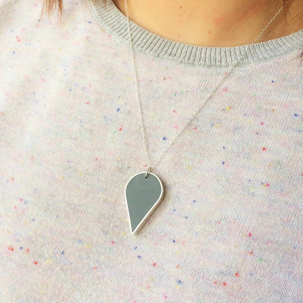 Grey Teardrop Pendant