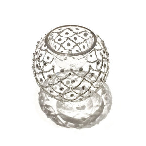 Silver Treasure Hand-Blown Votive