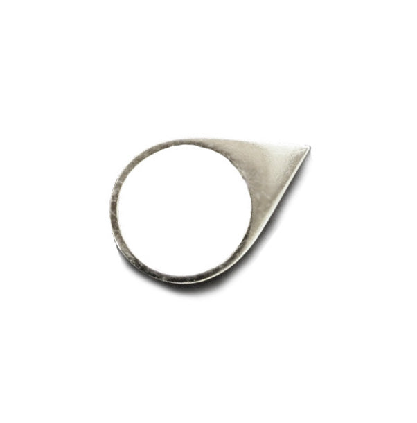 Polished Point Silver Ring