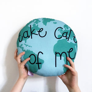 Take Care of the World Cushion