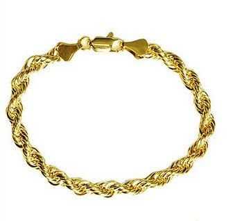 14KGP Gold Rope Chain Bracelet