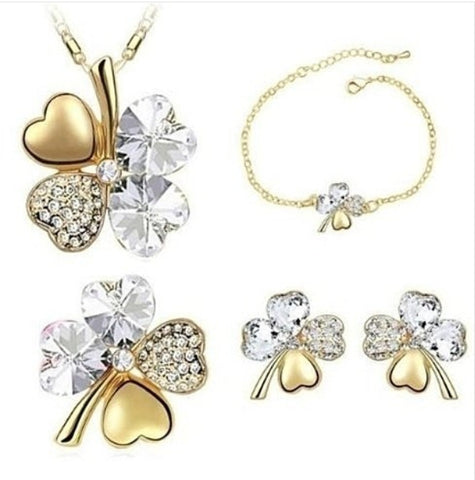 Swarovski Shamrock 4-Piece Sets - (Color Choices)