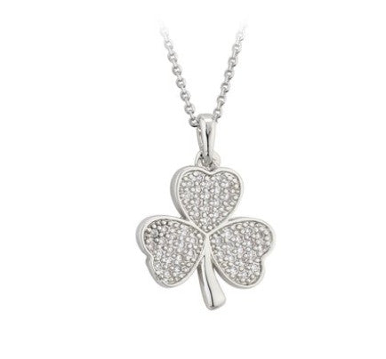 Crystal Shamrock Necklace - (Color Choice)