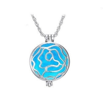 Rose Glow Pendant Necklace