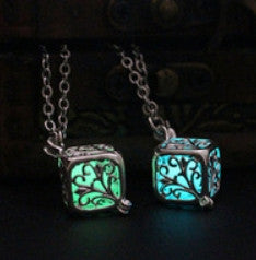 Square Glow Pendant Necklace