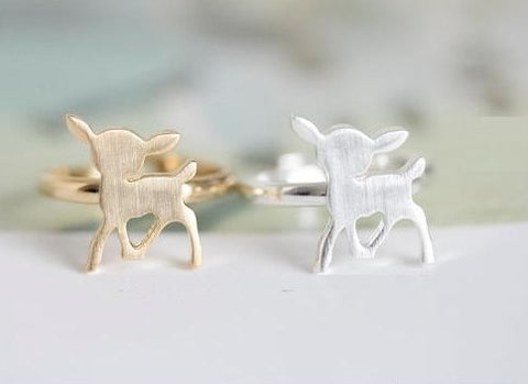 Bambi Ring in Silver or Gold