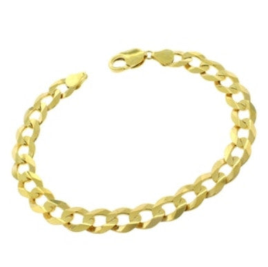 Cuban Link Bracelet 14k Gold Overlay, 7 1/4 inches