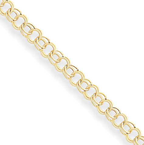 24K GP Gold Double Link Chain Bracelet