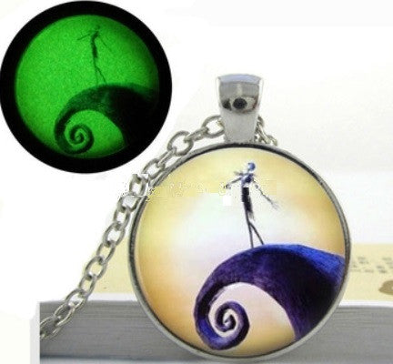Jack Skellington Glow Necklace with UV Light
