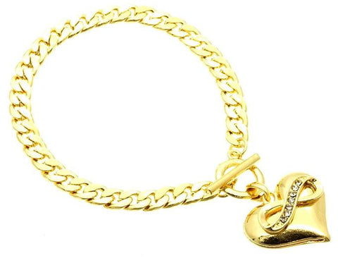 Golden Infinity Heart Bracelet