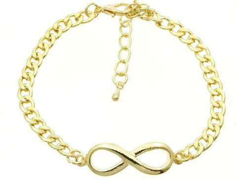 Golden Infinity Chain Bracelet
