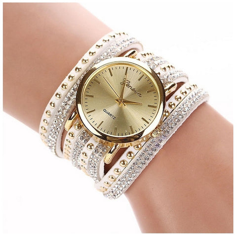 White & Gold Wrap Watch