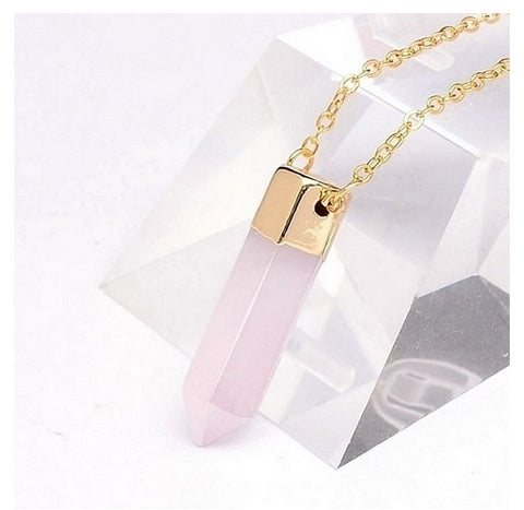 Rose Quartz Necklace Pendant