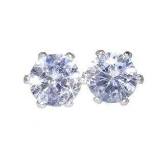 Swarovski Crystal Stud Earrings : Clear (Diamond) Crystal Color in Sterling