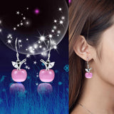 Pink Apple Earrings