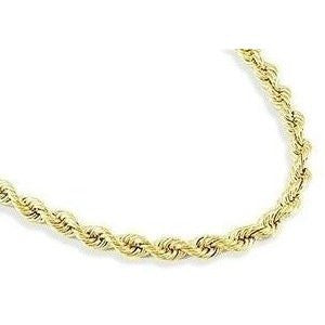 Thick Gold Rope 16 inch Necklace - 14k Gold Overlay