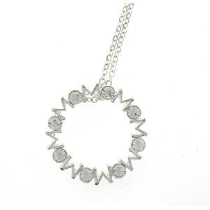 Forever Mom Swarovski Crystal Necklace in Sterling Silver