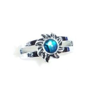 Paua Shell Sunshine Silver Ring
