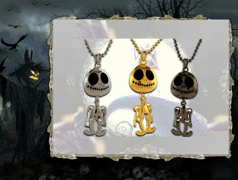 Jack The Pumpkin King - Jack Skellington Style Necklace