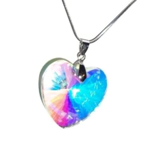 Crystal Heart Reflection Necklace