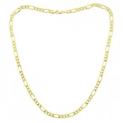 "18"" Figaro Chain Necklace in 14k Gold Overlay"