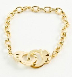 Golden Handcuff Bracelet