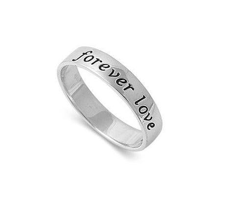 925 Pure Sterling Forever Love Ring
