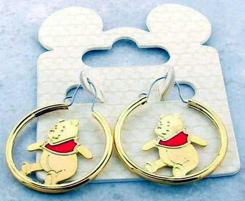 Disney Winnie The Pooh Hoop Earrings