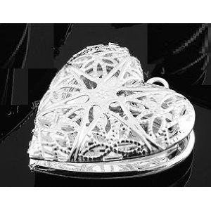 Silver Heart Photo-Locket Charm