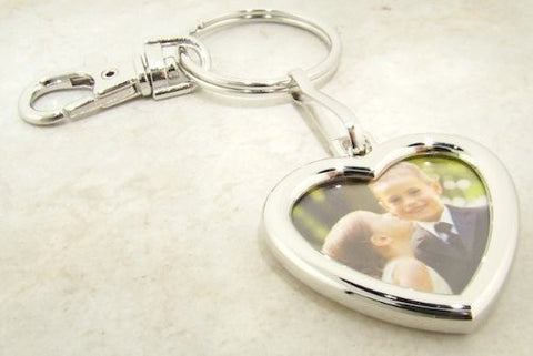 Heart Shaped Photo Frame Key Chain