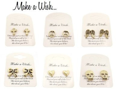 Make a Wish Earrings in Antique Style, Gift-Boxed