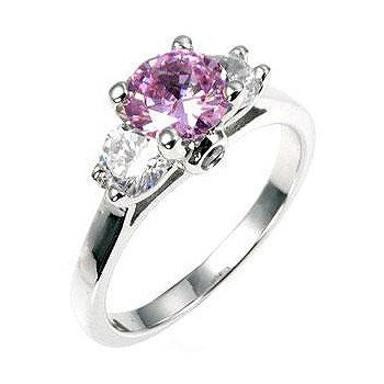 White Gold Lavender Ring