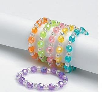 Children's Iridescent Bead Bracelets