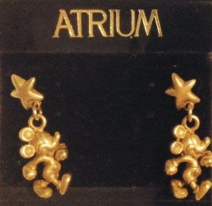 Mickey Mouse Golden Star Earrings