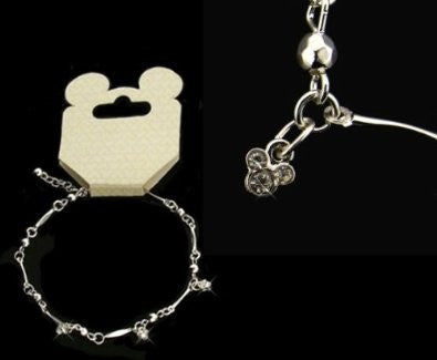 Austrian Crystal Mickey Mouse Anklet
