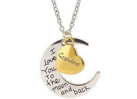 "Grandma ""I Love You To The Moon"" Charm Necklace"