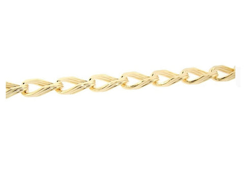 14k GP Gold Multi Link Chain Necklace