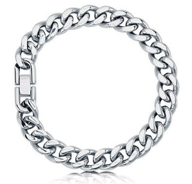 Stainless Steel Curb Chain Bracelet 8 Inch