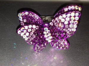 Austrian Crystal Purple Butterfly Ring - Medium