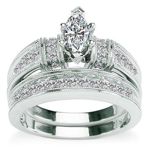 Bridal Diamond Wedding and Engagement Ring Set