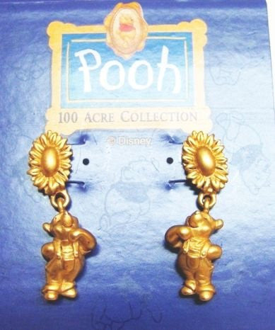 Winnie The Pooh Golden Sunflower Earrings