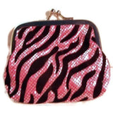 Zebra Sparkle Coin Purse